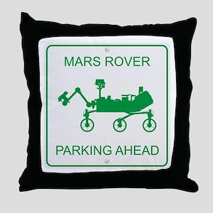 Mars Rover Parking Throw Pillow