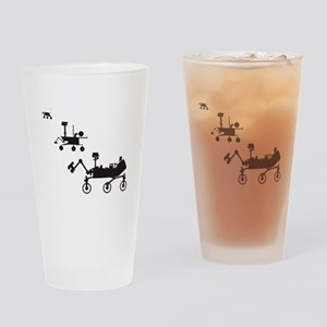 Mars Rovers Drinking Glass