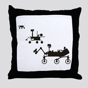 Mars Rovers Throw Pillow