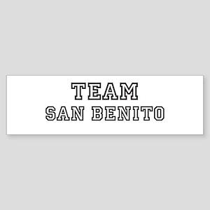 Team San Benito Bumper Sticker
