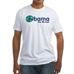 ObamaYesWeCan.png Fitted T-Shirt