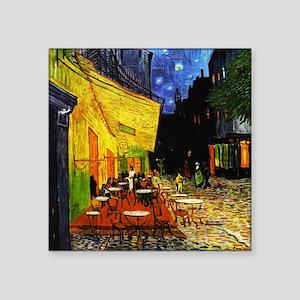"Van Gogh Cafe Terrace At Night Square Sticker 3"" x"