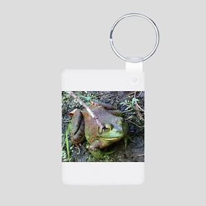 Frog - Close UP Aluminum Photo Keychain