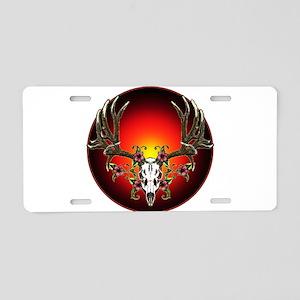 Hibiscus buck Aluminum License Plate