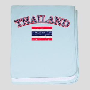 Thailand Flag Designs baby blanket