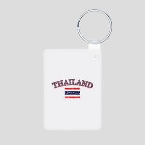 Thailand Flag Designs Aluminum Photo Keychain