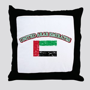 United Arab Emirates Flag Designs Throw Pillow