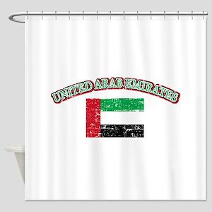 United Arab Emirates Flag Designs Shower Curtain