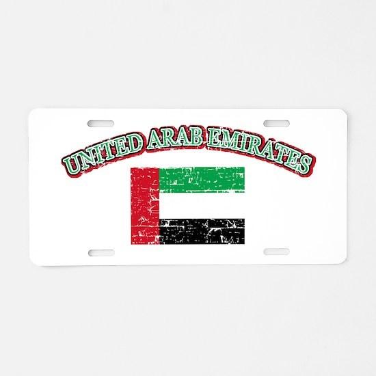 United Arab Emirates Flag Designs Aluminum License
