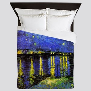 Van Gogh Starry Night Over The Rhone Queen Duvet