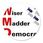 WMDemo_btn Round Car Magnet