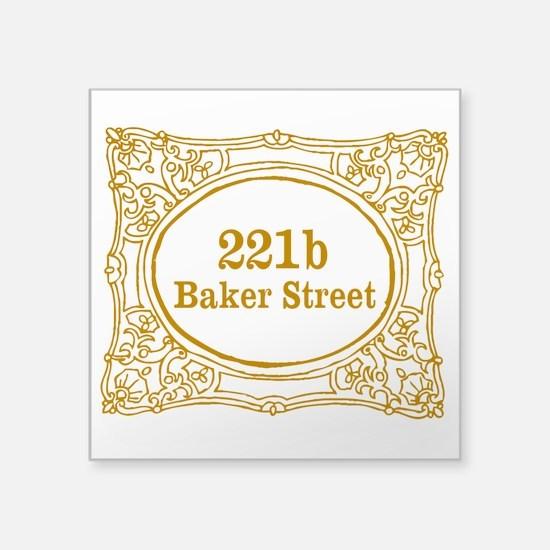 "221b Baker Street Square Sticker 3"" x 3"""