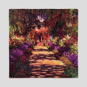 Path In Monet's Garden Queen Duvet