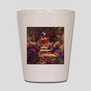 Path In Monet's Garden Shot Glass