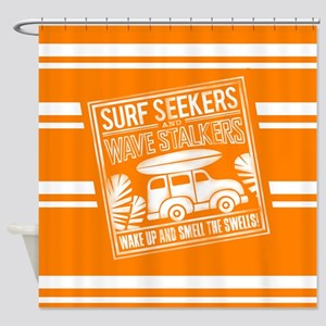 Surf Seekers Shower Curtain
