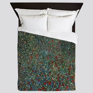 Gustav Klimt Poppy Field Queen Duvet