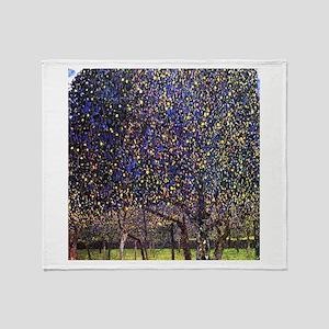 Gustav Klimt Pear Tree Throw Blanket