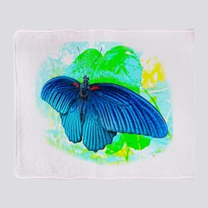 Great Mormon Butterfly Throw Blanket
