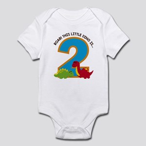 Dinosaur 2nd Birthday Body Suit