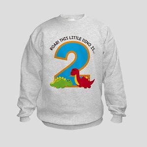 Dinosaur 2nd Birthday Sweatshirt
