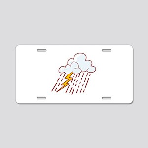 Rain Aluminum License Plate