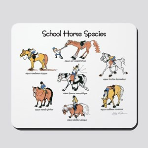 School Horse Species Mousepad