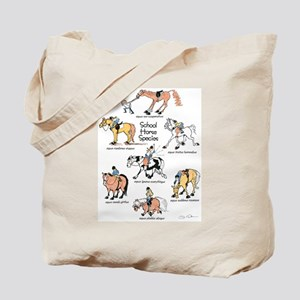 School Horse Species Tote Bag