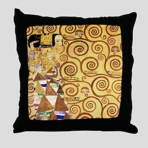 Gustav Klimt the Expectance Throw Pillow