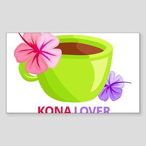 Kona Lover Sticker (Rectangle)