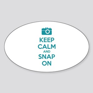 Keep calm and snap on Sticker (Oval)