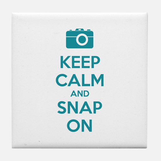 Keep Calm And Snap On Tile Coaster