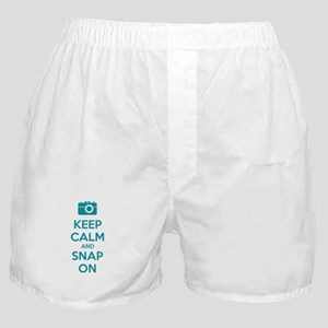 Keep calm and snap on Boxer Shorts
