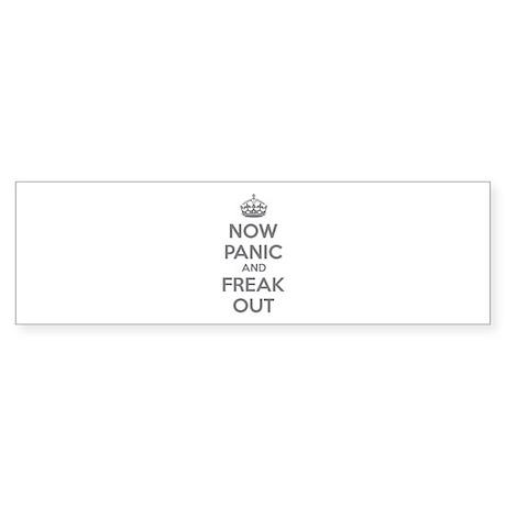 Now paninc and freak out Sticker (Bumper 10 pk)