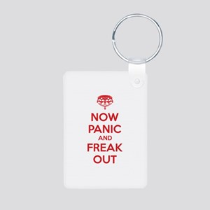 Now paninc and freak out Aluminum Photo Keychain