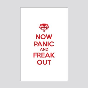 Now paninc and freak out Mini Poster Print