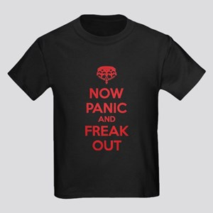Now paninc and freak out Kids Dark T-Shirt