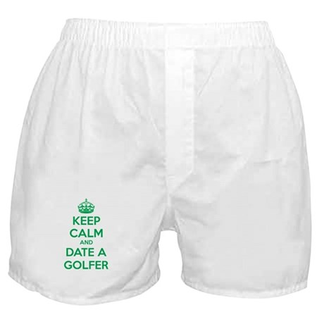 Keep calm and date a golfer Boxer Shorts
