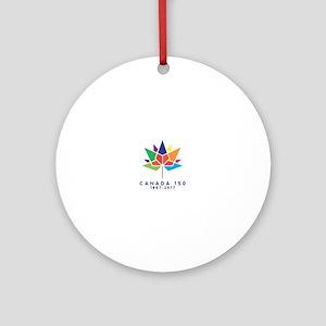 Canada 150 Round Ornament
