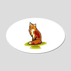 Fox 22x14 Oval Wall Peel