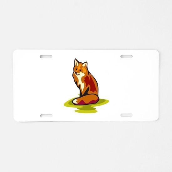 Fox Aluminum License Plate