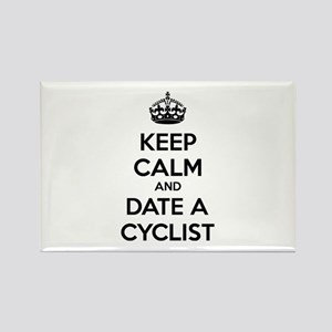 Keep calm and date a cyclist Rectangle Magnet