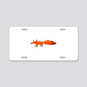 Fox Aluminum License Plate