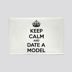 Keep calm and date a model Rectangle Magnet