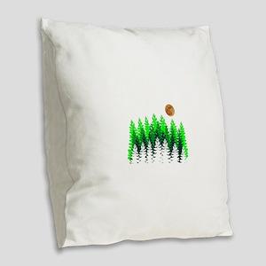 SETS THE MOOD Burlap Throw Pillow