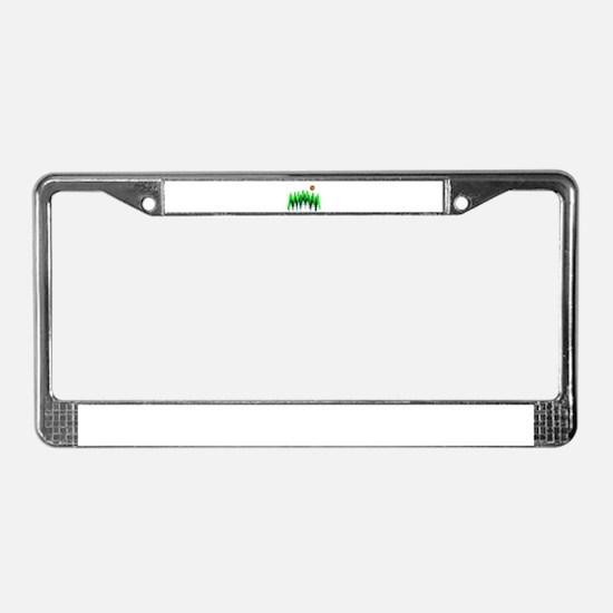 SETS THE MOOD License Plate Frame
