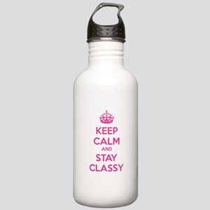 Keep calm and stay classy Stainless Water Bottle 1