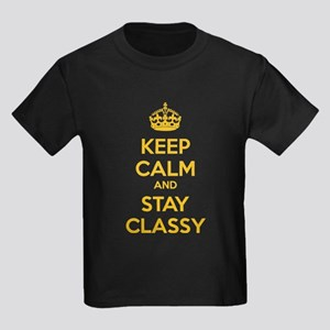 Keep calm and stay classy Kids Dark T-Shirt