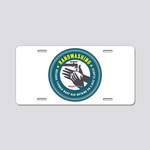 Handwashing Aluminum License Plate