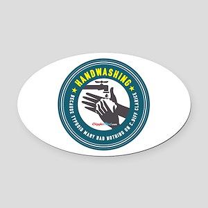 Handwashing Oval Car Magnet