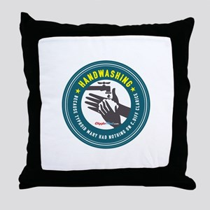 Handwashing Throw Pillow